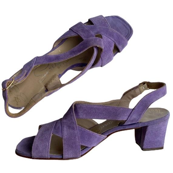 Sz. 7  | Vintage 60s Light Lavendar Lilac Purple S