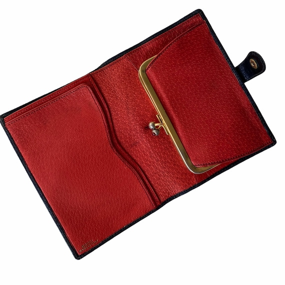 Vintage GUCCI Blue and Red Leather