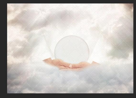 Dans ses mains   Jésus   Religieux   nuages toile   fond numérique   toile nuages de fond numérique   Noël   Fantasy   Globe   approvisionnement de l'art composite cbb57e