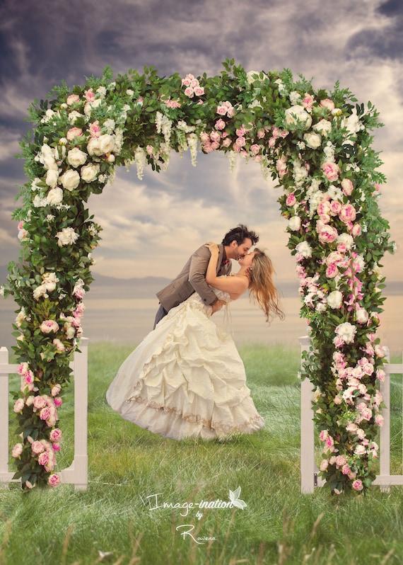 2 wedding flower arch white picket fence free color etsy image 0 mightylinksfo