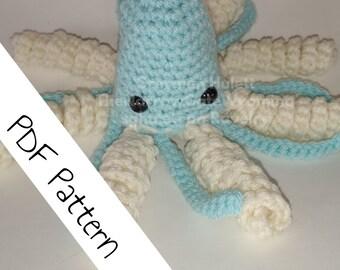 Reversible Amigurumi, Jellyfish pattern, crochet squid, crochet pattern amigurumi, plushie pattern, crochet toy, crochet animal, sea creatur