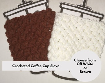 Coffee cozy, cup sleeve, crochet coffee cozy, birthday gift for coffee, for her, for him, iced coffee, coffee lover, friend gift