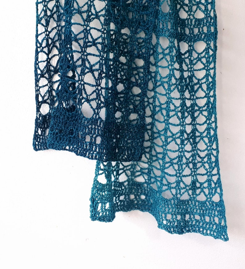 Crochet Lace Scarf Pattern PDF - Easy and Delicate stitch for Wrochet Wrap