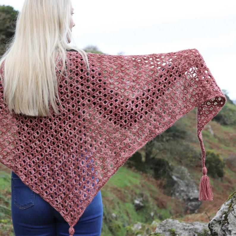beginner pattern PDF Crochet Shawl Pattern