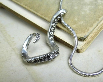 Custom Silver Tentacle with Diamond or Sapphire