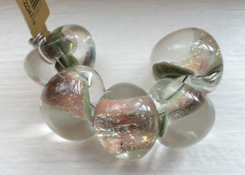 22249 5 Jumbo Teardrop Handmade Lampwork Beads 17 mm