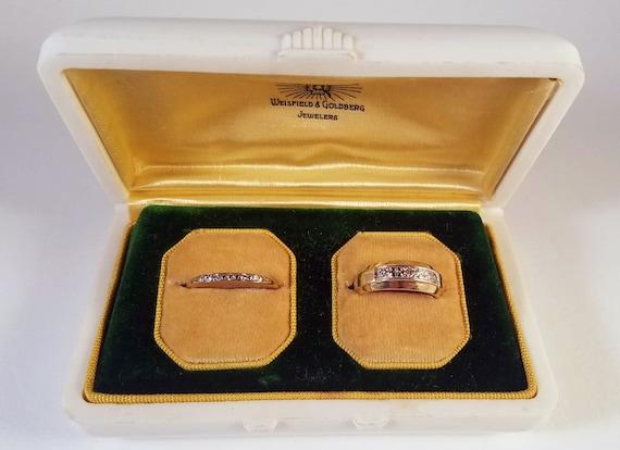 Celluloid Ring Box - Plastic Ring Box - Wedding Se