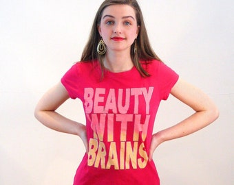 bc8610492ddf 90s Beauty With Brains T-Shirt XS