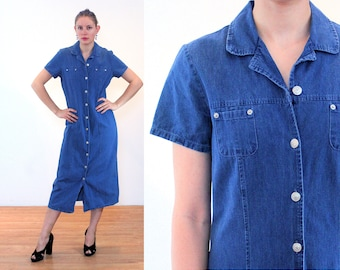 85932494c3d 90s Faded Glory Denim Dress M