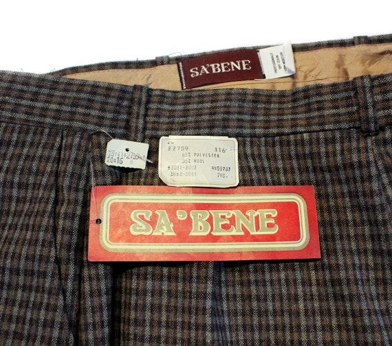 80s Wool Plaid Pants 30 x 32, Deadstock Vintage G… - image 6