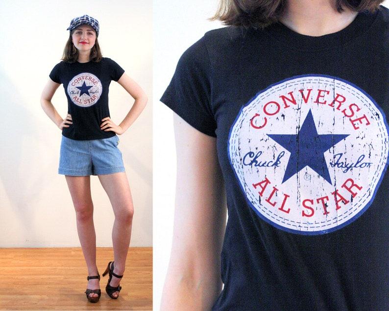 2e5bb947f7fd 90s Converse T-Shirt XS Chuck Taylor All Star Graphic Logo