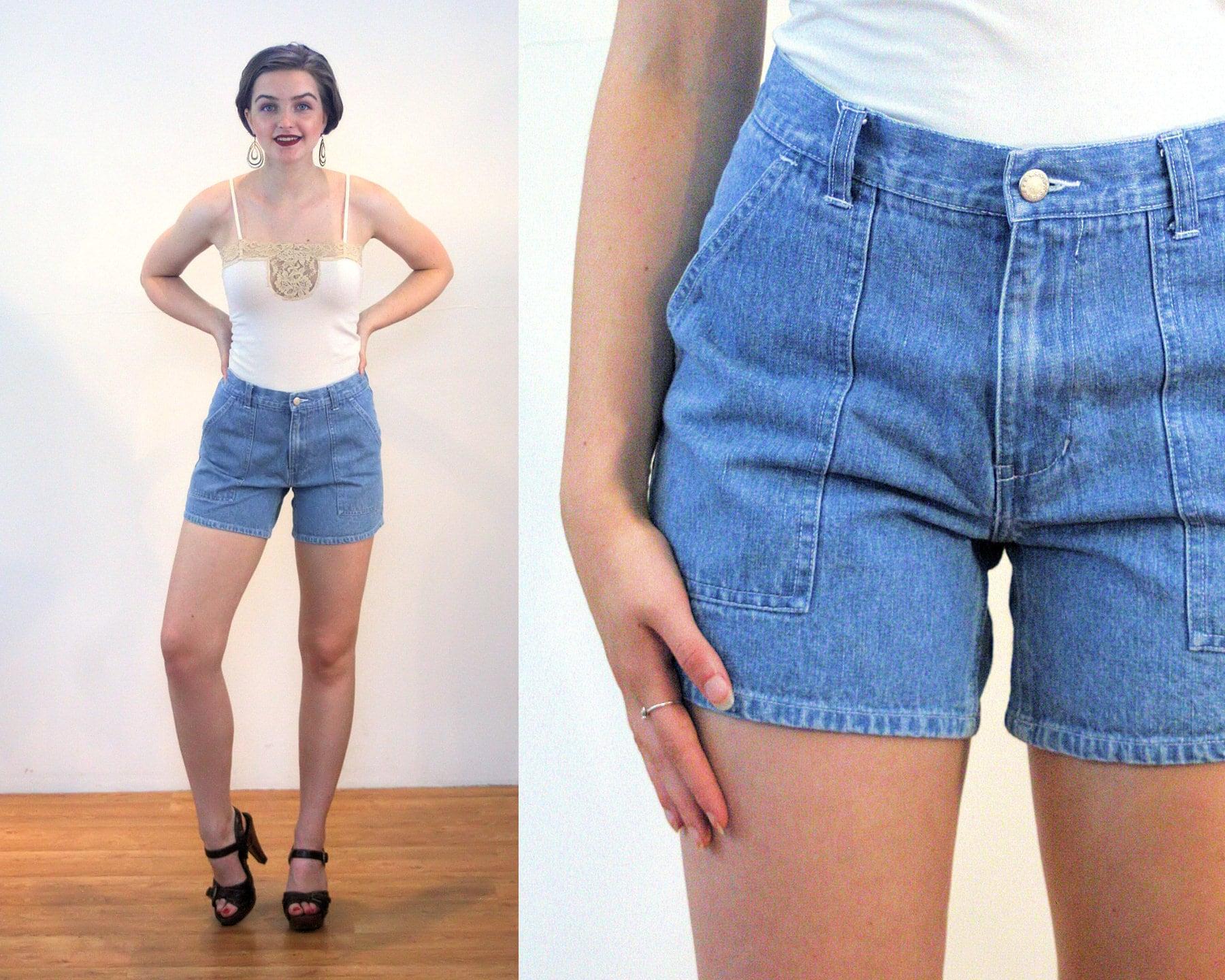 ae18155673 80s Blue Jean Shorts M Denim Vintage Cotton Moda   Etsy