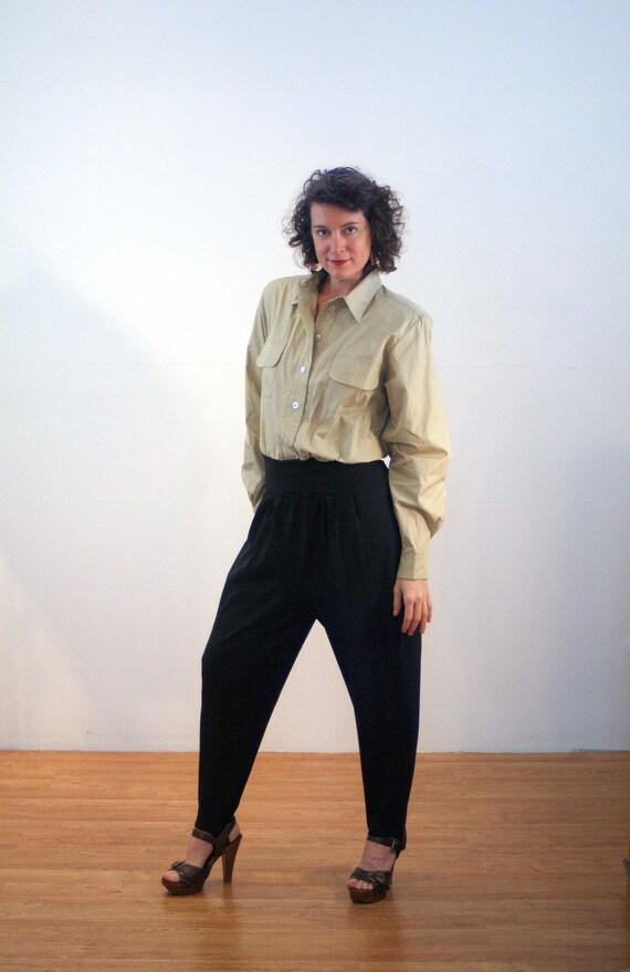 Anni   80 staffa pantaloni tuta L minimalista due tono  6d3932ff1255