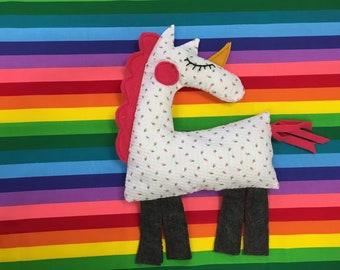 Unicorn Plushie KIT:   Materials, PDF Pattern & Tutorial