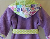 Child-Robes-Girls-Girl Robe-Owls-Forest-Animals-Bathrobes-Children-Sleepwear-Swim-Pool-Hooded-Bath-Swim-Cover-Up-Gift-