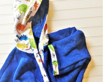 Boys-Bath-Robes-Dinosaurs-Dino-Red-Green-Blue-Bathrobes-Hooded-Terry-Towels-Swim-Suit-Cover Up-Shower-Birthday-Holiday-Baby-Kids-Teen-Gifts