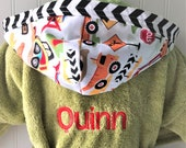 Child-Robes-Boy-Bath-Boys-Robe-Construction-Sweet-Dreams-Sleepwear-Childrens-Spa-Beach-Towels-Hooded-Swim-Suit-Terry-Cover Up-Baby&Kids-2-6