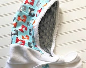 Baby-Towel-Personalized-Bath-Hooded-Towels-Kids-Boy-Boys-Fox-Gray-Minky-Dot-Beach-Terry-Swim-Suit-Cover-Up-Newborn-essentials-Shower-Gifts