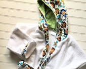 Kids-Bath-Robe-Personalized-Monkey-Hooded-Bathrobes-Children-Boys-Nautical-Beach-Towel-Swimwear-Terry-Cover Up-Baby-Toddler-Teen-Gift