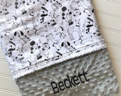 Personalized-Baby-Blanket-Puppy-Dog-Minky-Dot-Quilts-Stroller-Receiving-Swaddling--Girls-Crib-Nursery-Newborn-Toddler-Shower-Birthday-Gift