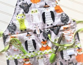 Kids-Aprons-Halloween-Owls-Orange-Gray-Lime-Chef-Art-Cooking-Kitchen-Baking-Play-Dough-Garden-Apron-Smocks-Holiday-Birthday-Toddler-Gifts
