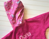 Girls-Bath-Robes-Ponies-Horses-Unicorn-Pink-Bathrobes-Hooded-Terry-Towels-Swim-Suit-Cover Up-Shower-Birthday-Holiday-Baby-Kids--Teen-Gifts