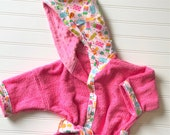 Girls-Bath-Robes-Popsicle-Pink-Beach-Bathrobe-Hooded-Terry-Towels-Swim-Suit-Cover Up-Toddler-Baby-Kids-Shower-Birthday-Holiday-Gifts