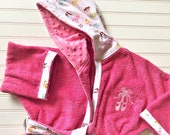 Girls-Bath-Robes-Ballet-Ballerina-Hearts-Pink-Bathrobes-Hooded-Beach-Terry-Towels-Swim-Suit-Cover Up-Shower-Birthday-Baby-Kids-Teen-Gifts