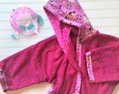 Personalized-Girls-Bath-Robes-Bathrobes-Frozen-Anna-Elsa-Princess-Minky-Hooded-Towels-Swimwear-Terry-Beach-Cover-Up-Baby-Toddler-Kids-Gift