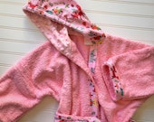 Personalized-Girls-Bath-Robes-Bathrobes-Forest-Animals-Fox-Bear-Pink-Hooded-Towels-Swimwear-Terry-Beach-Cover-Up-Baby-Toddler-Kids-Teen-Gift