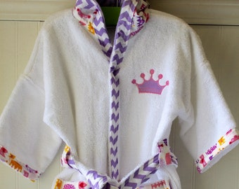 Girls-Bath-Robes-Girl-Robe-Bathrobes-Princess-Crowns-Pink-Children-Beach- Hooded-Swim-Suit-Terry-Cover-Up-Baby-Toddler-Kids-Gift-Personalized 4674a30ac