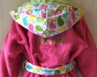 Girls-Bath-Robes-Girl-Robe-Chicks-Pink-Aqua-Lime-Nautical-Bathrobes- Childrens-Beach-Hooded-Swim-Suit-Terry-Cover Up-Baby-Toddler-Kids-Gift cf5c8ae9c
