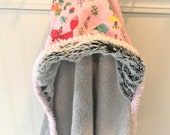Baby-Hooded-Towels-Pink-Forest-Animals-Beach-Bath-Kids-Toddler-Terry-Cloth-Minky-Swim-Cover-Up-Shower-Birthday-Holiday-Gifts