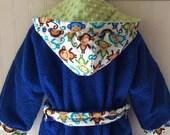 Kids-Bath-Robe-Personalized-Monkey-Hooded-Bathrobes-Children-Boys-Nautical-Beach-Towel-Swimwear-Terry-Cover Up-Baby-Toddler-Teen-Gift
