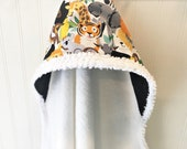 Baby Hooded Towels-Boys-Zoo-Jungle-Animals-Hooded-Beach-Swim-Bath-Kids-Toddler-Terry-Cloth-Cover Up-Wash-Cloth-Shower-Birthday-Holiday-Gifts
