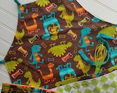 Kids-Aprons-Dinosaurs-Chef-Art-Cooking-Kitchen-Baking-Play-Dough-Summer-Garden-Back-To-School-Smocks-Holiday-Birthday-Toddler-Gifts