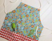 Kids-Aprons-Forest-Animals-Trees-Christmas-fox-Bears-Deer-Squirl-Moose-Chef-Art-Cooking-Kitchen-Baking-Smocks-Holiday-Birthday-Toddler-Gifts