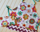 Kids-Aprons-Flowers-Chef-Art-Cooking-Kitchen-Baking-Play-Dough-Summer-Garden-Back-To-School-Smocks-Holiday-Birthday-Toddler-Gifts