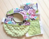Baby-Toddler-Bib-Bibs-Owls-Lavender-Mnky Dot-Reverseable-Snap-Enclosure-inspiringdesignstudio.com Designed-By-Inspiringdeisgnstudio.com