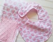 Baby-Toddler-Bib-Bibs-Princess-Crowns-Mnky Dot-Reverseable-Snap-Enclosure-Designed-By-Inspiring-Design-Studio-LLC