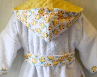 Girls-Boys-Bath-Robes-Girl-Boy-Robe-Yellow-Rubber-Ducky-Bathrobes-Childrens- Beach-Hooded-Swim-Suit-Terry-Cover Up-Baby-Toddler-Kids-Gift. tanjadlyn 0c0d65bfb