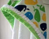 Baby Hooded Towels-Boys-Boy-Bath-Towel-Blue-Whale-Minky-Savvy Baby Goodies-Beach-Pool-Terry-Cover Up-Wash Cloth-Gift Set-Options