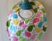 Baby-Toddler-Girl-Girls-Bib-Bibs-Chicks-Pink-Aqua-Lime-Minky Dot-Reversible-Snap-Enclosure-Gift-Gifts-For-Children-Shower-Holiday