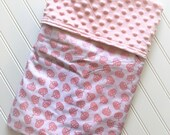 Personalized-Baby-Minky-Blanket-Princess-Pink-Shimmer-Crowns-Lovey-Quilt-Stroller-Receiving-Swaddling-Girl-Crib-Nursery-Newborn-Toddler-Gift