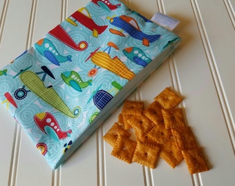 Snack-Bag-Planes-Eco-Friendly-Reusable-Sandwich-Food-Toy-Art-Make-Up-Baby-Wet-Dry-Baggies-Lunch-Preschool-Back-To-School-Kids-Gift-Sets