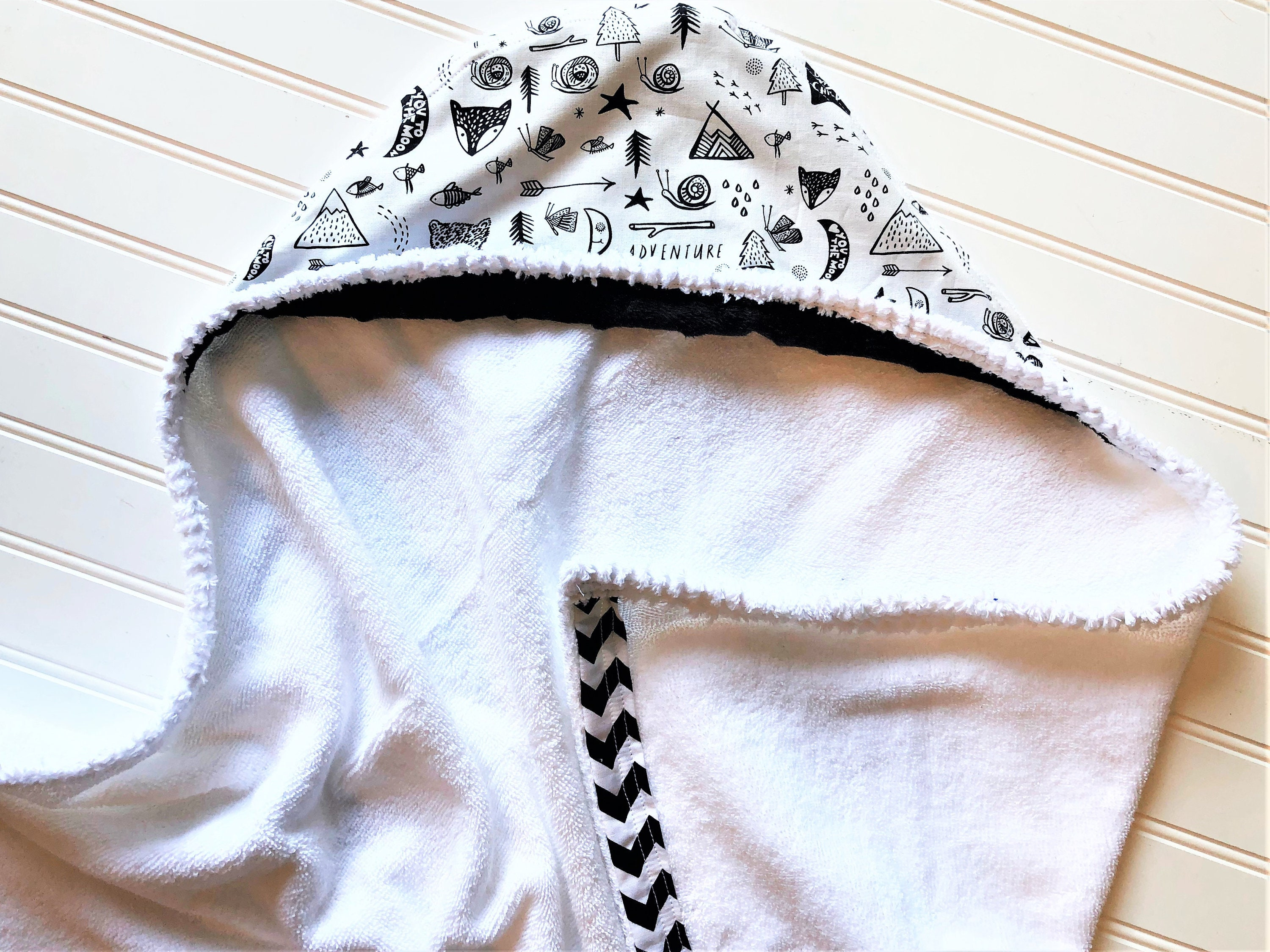 Stars Snuggle Robe Embroidered Personalised Hooded Baby Towel