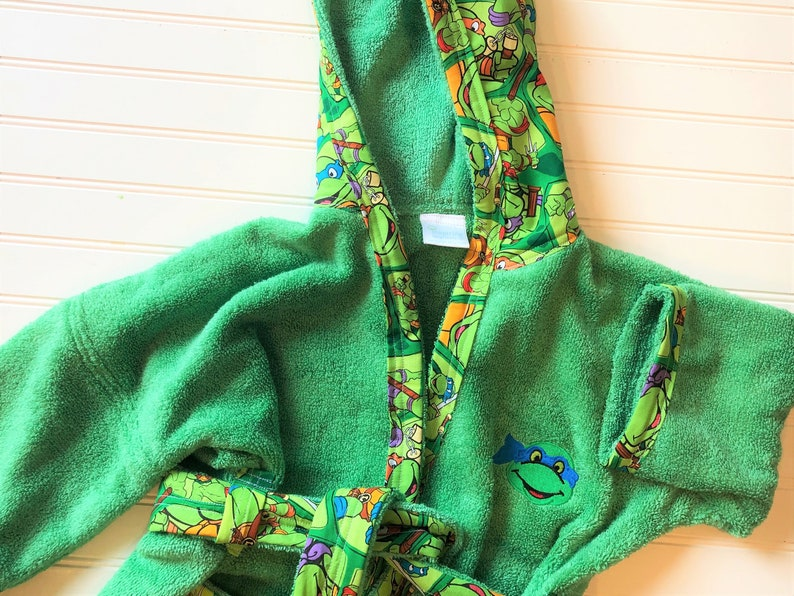 67eadcca8cc21 Child-Robes-Boys-Teenage-Mutant-Ninja-Turtle-Green-Bath-Pajama | Etsy