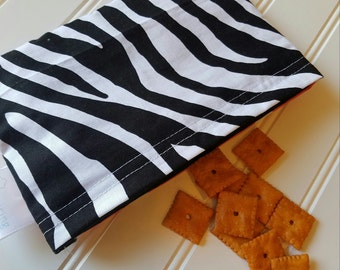Snack-Bag-Zebra-Pink-Eco-Friendly-Reusable-Sandwich-Food-Toy-Art-Make-Up-Baby-Wet-Dry-Baggies-Lunch-Preschool-Back-To-School-Kids-Gift-Sets