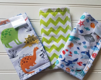Kids-Wash-Cloths-Terry-Cotton-Beach-Surfer-Shark-Dinosaurs-Baby-Wipes-Food-Clean-Up-Art-Crafts-New-Parent-Bathroom-Toddler-Gift-Sets