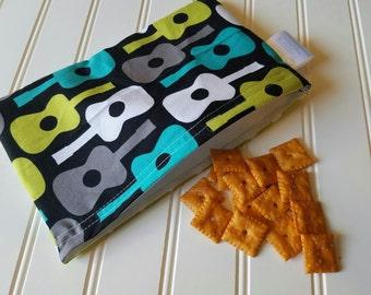 Snack-Bag-Giutar-Eco-Friendly-Reusable-Sandwich-Food-Toy-Art-Make-Up-Baby-Wet-Dry-Baggies-Lunch-Preschool-Back-To-School-Kids-Gift-Sets
